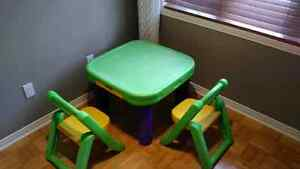 Table and 2 chairs set,  very heavy duty