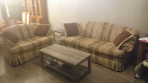 3 pce living room set - couch, loveseat and armchair