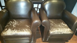 "Set of Two Expresso Bombay Armchairs - 35""x35""x35""  - $200"