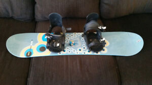 Rossignol kids' 110cm Snowboard and Bindings