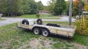 Tandem Utility Trailer with electric brakes