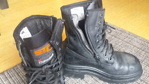 Work steel toe STC boots mens size 4 or woman 6