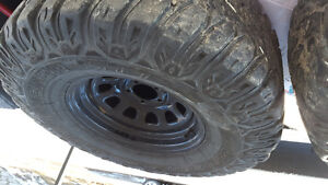 """33x12.5 R15"""" Jeep Cherokee XJ Offroad Tires and Rims"""