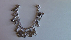 REDUCED: Sterling Silver Charm Bracelet with 15 Charms Kitchener / Waterloo Kitchener Area image 1