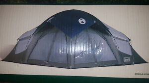 3 room Coleman tent, Igloo cooler and camping gear