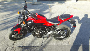 FZ07 w ABS 2017 with Riding Gear Never Dropped