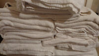 Gently used large motel towels for sale.No rips or stains. $1.50