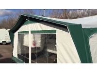Bradcot active awning size 870 in green and alloy poles