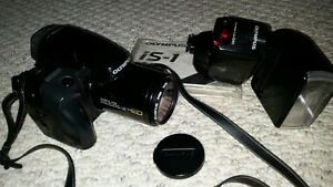 Classic Olympus IS-1 film camera & G-40 Flash
