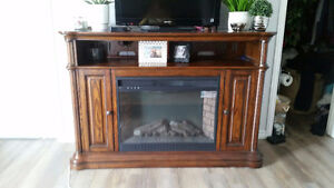 Large Mahogany Fireplace Entertainment Stand!!!