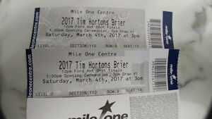 2017 Tim Hortons Brier Full Event Package