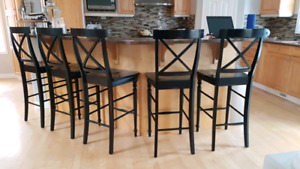 5 tall bar stools / chairs $75ea