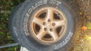 "Jeep 15"" rims and 31"" mudders"