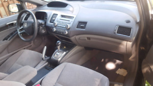 Honda civic black sedan 2008 automatic  sunroof