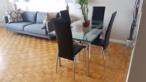 Dining table 4 chairs (Structure)
