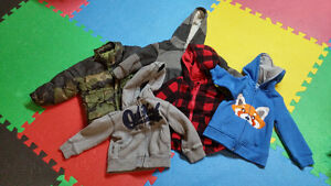 Boys 18month  to 2t sweaters and winter coat