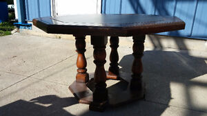 Solid Wood Table (Octagon shape) Peterborough Peterborough Area image 1