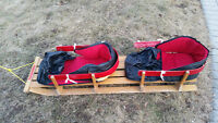 VINTAGE! CLASSIC! Torpedo Double Seat Wooden Sled