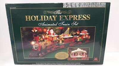 New Bright 384 Holiday Express Christmas Electric Animated Train Set G Sc 2001