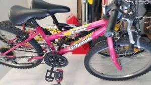 Girls Pink Triumph Laser Bike $40