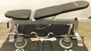 bench avec haltères