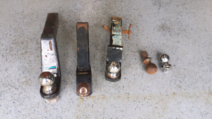 Assortment of receivers and balls.