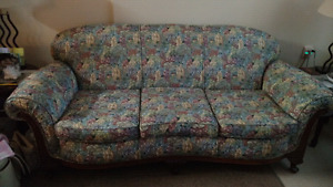 Antique couch and wing chair NEW PRICE NEED GONE!
