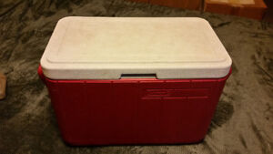 Coleman cooler 18WX13HX10D with water jug