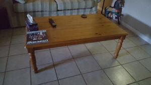 table basse en pin