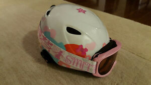 Giro Kids ski helmet and goggles in excellent condition