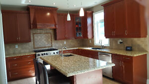 Used Kitchen Cabinets, Large Island & Granite Counters/Sinks