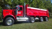 DZ Triaxle dump truck driver