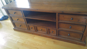 Reclaimed wood tv cabinet from Heritage Furniture