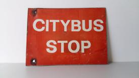 Belfast bus sign.
