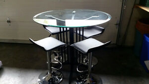 "42"" Round, 36"" High Glass Table"