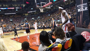 Toronto Raptors vs Milwaukee Bucks *** COURTSIDE ROW C ***
