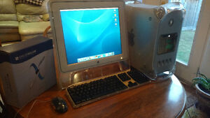 Apple Power Mac G4 Computer, Studio Display, keyboard and mouse
