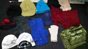 To Give: Assorted Winter Clothing Womans Hats, Scarfs, Gloves