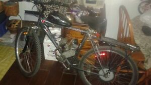gas powered peddle bike,lots of power 79cc