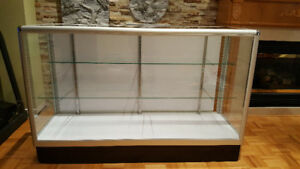 Display cabinet glass