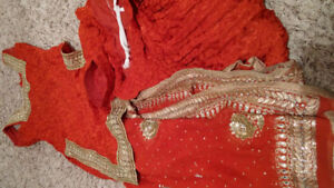 Lovely burnt orange Salwar set
