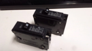 Two 15 amp breakers for cutler hammer box