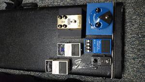 Pedals. Boss, Dunlop, MXR, TC Electronic