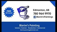 •Fully licensed •Painting Service