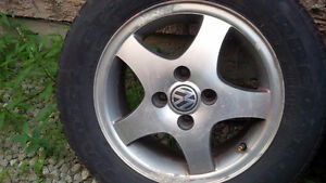 OEM VW 5 spoke 4 bolt rims