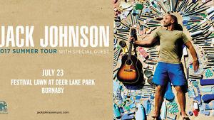 Jack Johnson Premium VIP Ticket BURNABY, BC
