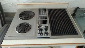 electric stove top and oven
