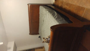 650 obo queen size wood sleigh bed frame