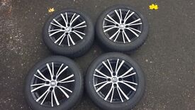 4 Winter Tyres with Alloys - £190