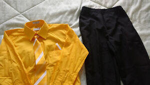 Size 10 boy's dress shirt with tie, hanky and pants for sale St. John's Newfoundland image 1